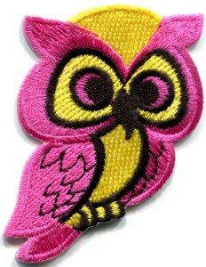 Owl bird of prey animal wildlife applique iron-on patch S-291