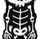 Skull skeleton goth punk emo horror biker applique iron-on patch S-257