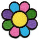 Flower power hippie retro boho applique iron-on patch Small S-116