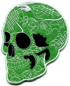 Skull tattoo horror biker goth emo punk rock metal applique iron-on patch S-253