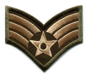 Army military insignia rank war biker retro applique iron-on patch S-90