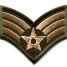 Army military insignia rank war biker retro applique iron-on patch S-90