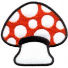 Mushroom boho hippie retro love peace weed trance applique iron-on patch S-63