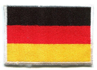 Flag of Germany German applique iron-on patch Medium S-96