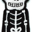 Skull skeleton goth punk emo horror biker applique iron-on patch S-262