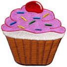 Cupcake retro fairy cake cup sweets desert applique iron-on patch S-202