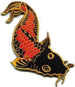 Japanese koi carp fish applique iron-on patch S-287