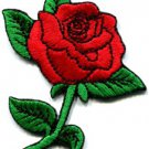 Rose tattoo biker retro boho love red applique iron-on patch  S-194