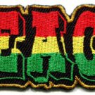 Peace sign flag of Judah hippie pot reggae rasta applique iron-on patch S-35