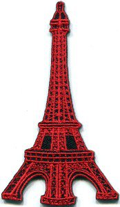 Eiffel Tower Paris France applique iron-on patch FREE WORLDWIDE DELIVERY, NO PURCHASE LIMIT S-324