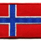 Flag of Norway Norwegian applique iron-on patch Medium S-94