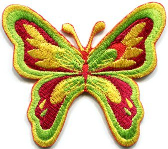 Butterfly hippie love retro boho 70s weed applique iron-on patch S-180