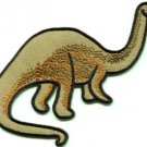 Brontosaurus Jurassic dinosaur lizard kids fun sew applique iron-on patch S-430
