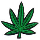Pot leaf ganja marijuana weed hippie BIG applique iron-on patch S-91 WE SHIP ANYWHERE FOR FREE!