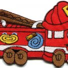 Fire engine truck rescue pumper retro applique iron-on patch S-333 WE SHIP ANYWHERE FOR FREE!