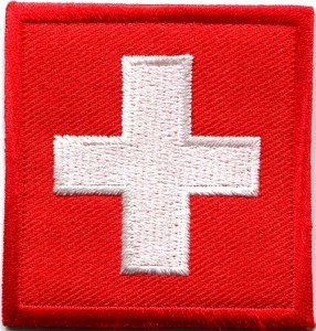 Flag of Switzerland Swiss europe embroidered applique iron-on patch S-337