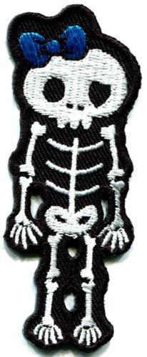 Skull skeleton goth horror applique iron-on patch S-260