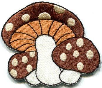 Mushroom boho 70s hippie retro love peace weed pot applique iron-on patch S-74