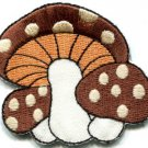 Mushroom boho 70s hippie retro love peace weed pot applique iron-on patch S-74