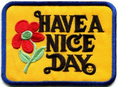 Have a Nice Day 70s hippie retro boho weed love applique iron-on patch S-304