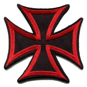 German Iron Cross military medal WW2 valor war biker iron-on applique patch S-86