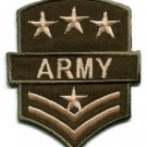 Army military insignia rank war biker retro applique iron-on patch S-89