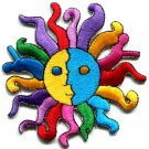 The Sun retro boho psychedelic hippie sew sewing applique iron-on patch S-190