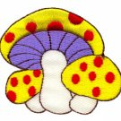 Mushroom boho 70s hippie retro love peace weed pot applique iron-on patch S-70