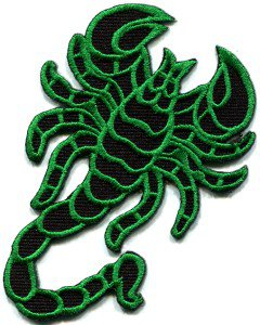 Scorpion tattoo Muay Thai applique iron-on patch S-234