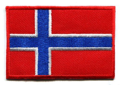 Flag of Norway Norwegian applique iron-on patch S-94