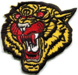 Tiger cat puma jaguar lion cheetah animal wildlife applique iron-on patch S-301