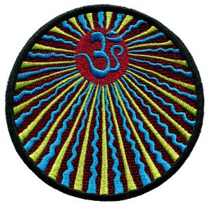 Aum om infinity hindu hindi hinduism yoga indian applique iron-on patch T-11