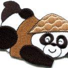 Panda bear wildlife fun applique iron-on patch FREE SHIP, NO LIMIT! S-326
