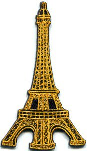 Eiffel Tower Paris France applique iron-on patch FREE WORLDWIDE DELIVERY, NO PURCHASE LIMIT S-322