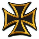German Iron Cross military medal WW2 valor war biker iron-on applique patch S-84