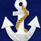 Anchor tattoo navy biker retro ship boat sea sew applique iron-on patch S-482