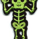 Skull skeleton goth punk emo horror biker sew applique iron-on patch S-485