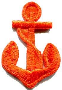 Anchor tattoo navy biker retro ship boat sea sew applique iron-on patch S-475