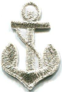 Anchor tattoo navy biker retro ship boat sea sew applique iron-on patch S-480