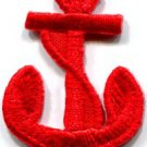 Anchor tattoo navy biker retro ship boat sea sew applique iron-on patch S-478