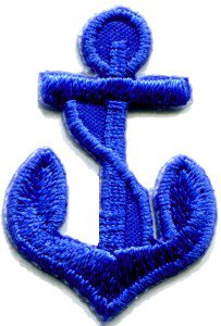 Anchor tattoo navy biker retro ship boat sea sew applique iron-on patch S-474
