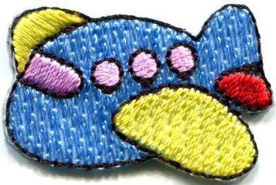 Airplane plane kids fun flying retro sew sewing applique iron-on patch S-470
