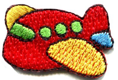 Airplane plane kids fun flying retro sew sewing applique iron-on patch S-472
