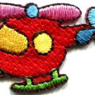 Helicopter chopper copter kids fun sew sewing applique iron-on patch S-466