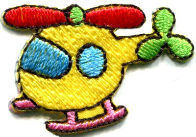 Helicopter chopper copter kids fun sew sewing applique iron-on patch S-468