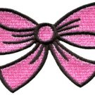 Pink bow knot ribbon boho retro sew sewing applique iron-on patch S-442