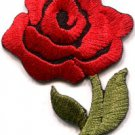 Red rose tattoo biker love retro boho sew sewing applique iron-on patch S-447