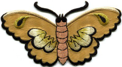 Butterfly insect boho hippie retro love peace applique iron-on patch S-457