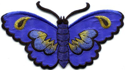 Butterfly insect boho hippie retro love peace applique iron-on patch S-463