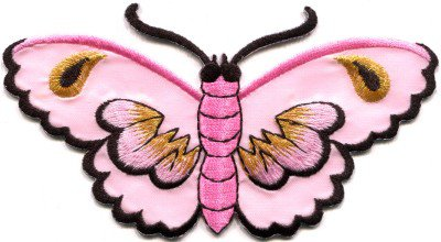 Butterfly insect boho hippie retro love peace applique iron-on patch S-460
